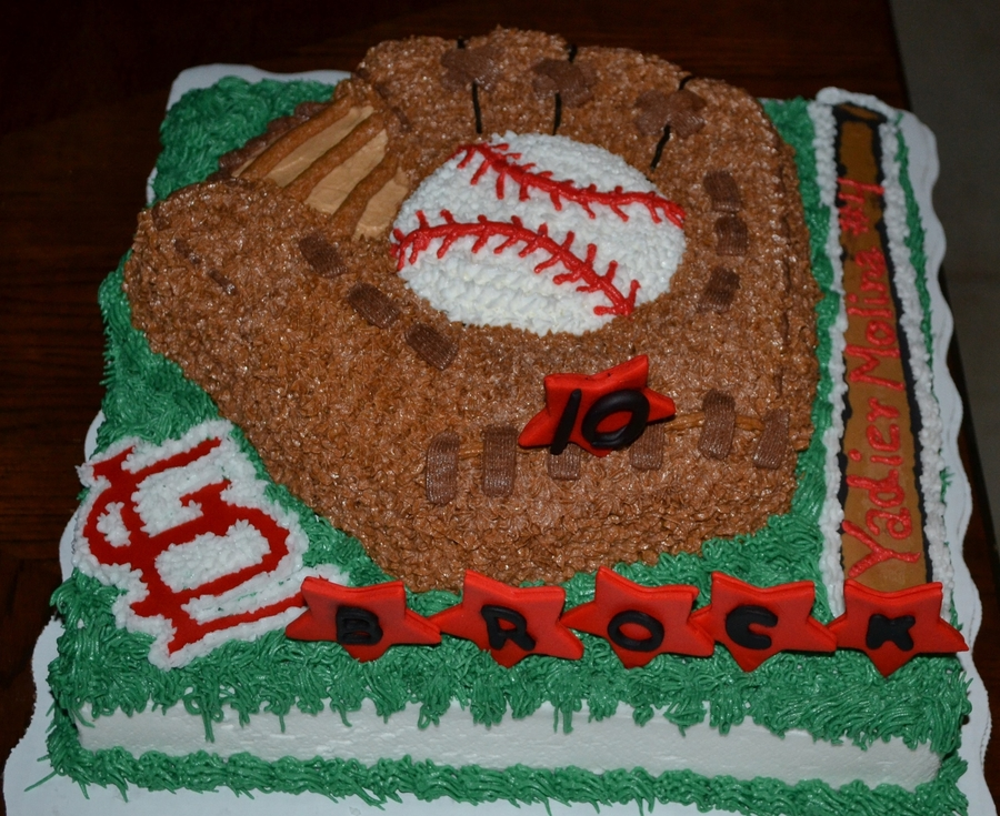 Baseball Glove Cardinals Team on Cake Central