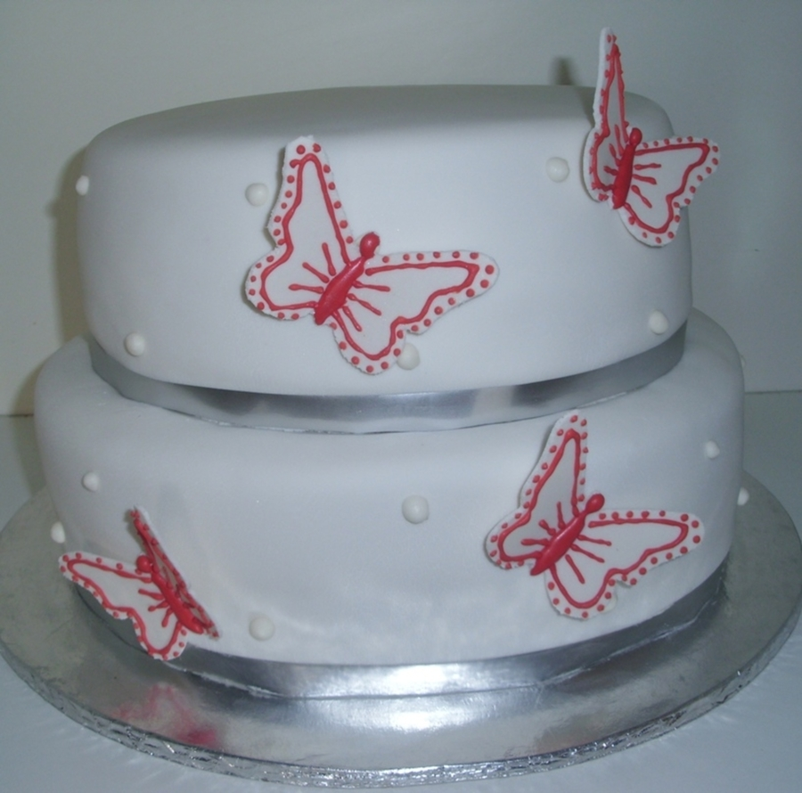 Orange Butterflies Cake on Cake Central