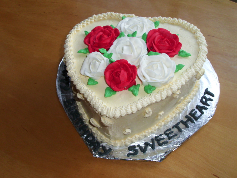 Heart Birthday Cake - CakeCentral.com