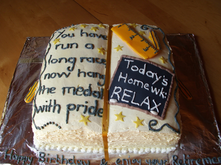 Teacher Retirement Cake on Cake Central