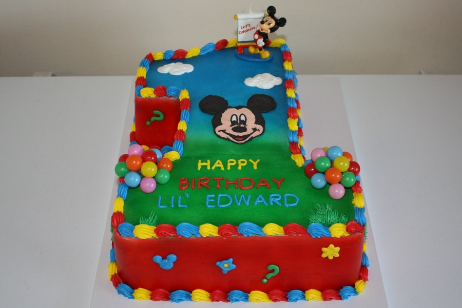 Mickey Mouse Clubhouse 1st Birthday Cake Cakecentral