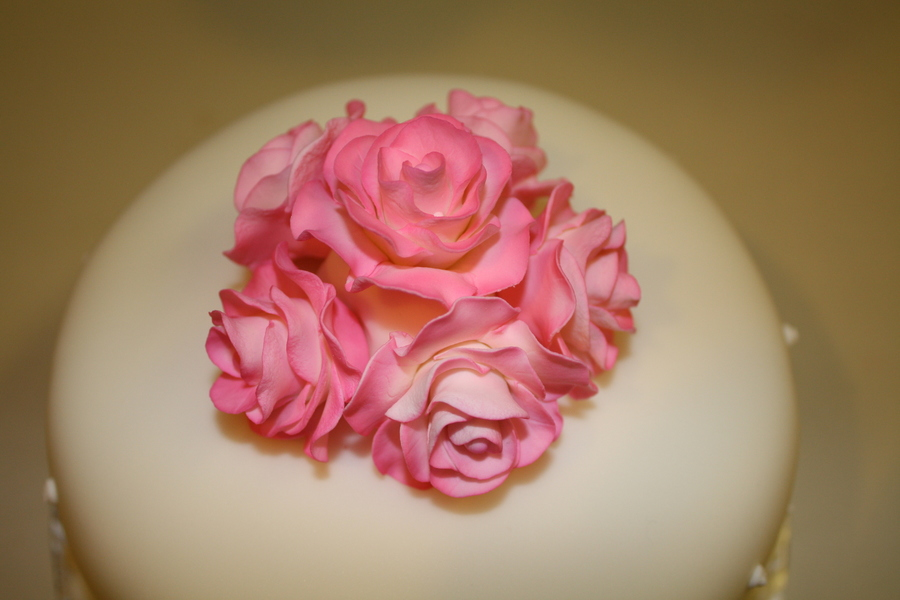 Pink Roses on Cake Central