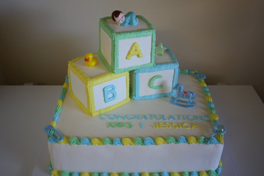 Baby Block Cake - CakeCentral.com