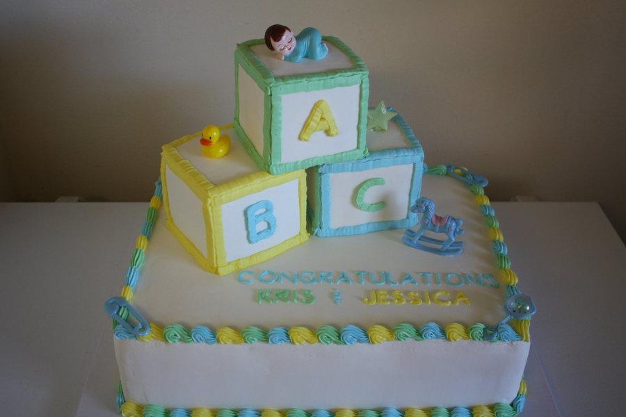 Baby Block Cake Tutorial