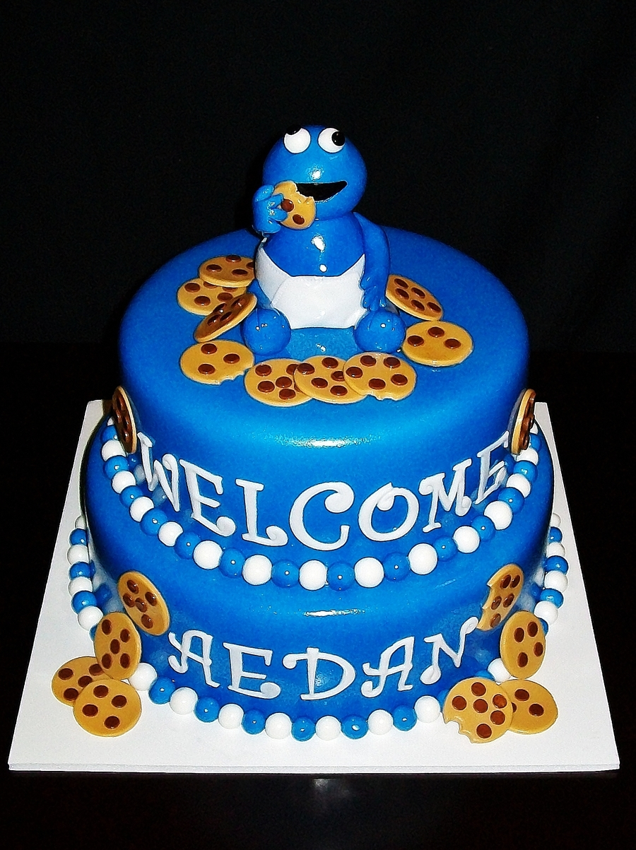 Cookie Monster Baby on Cake Central