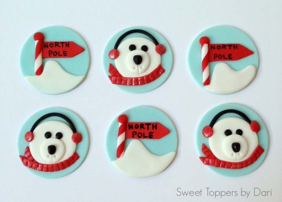 North Pole Polar Bear Cupcake Topper on Cake Central
