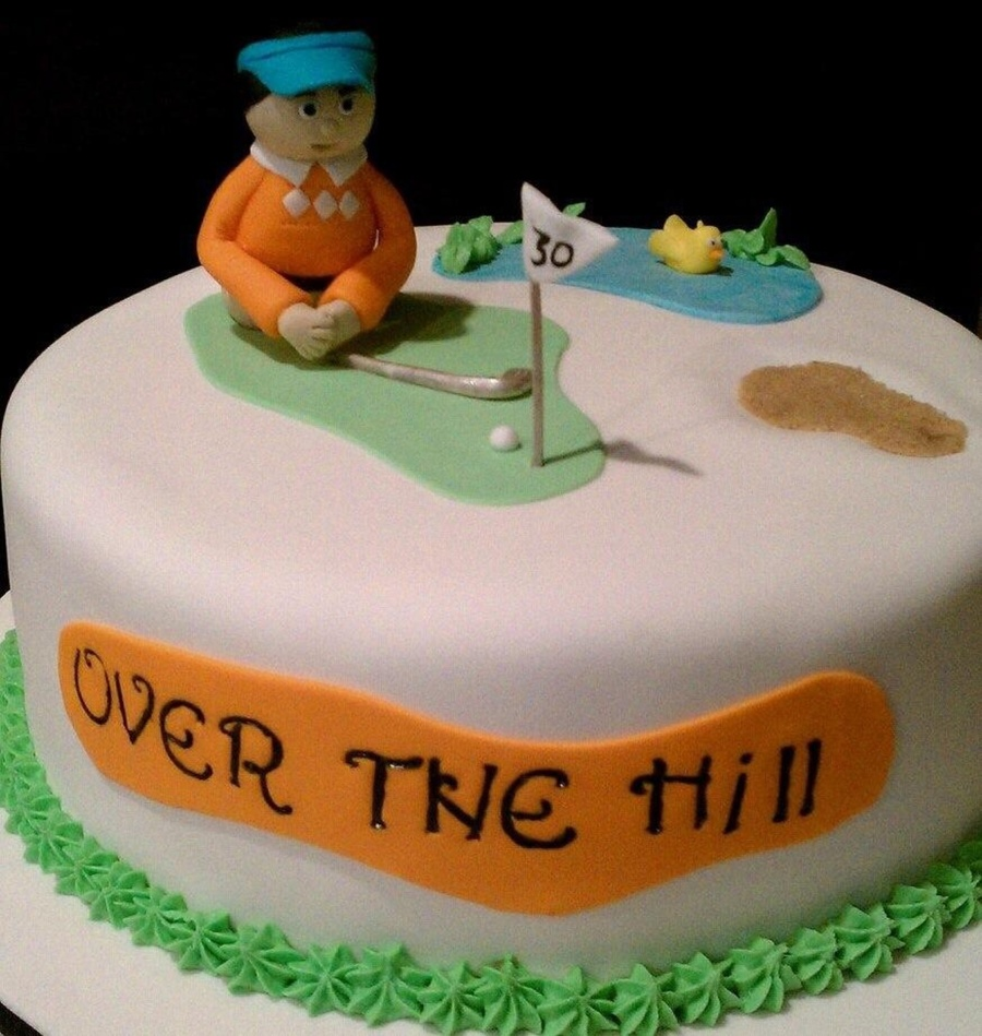This Was My Second Cake Ever Made And The First Time At Trying To Sculpt A Figurine I Made This For Sweet Husband The Avid Golfer on Cake Central