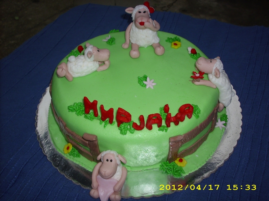Sheep For A Girl on Cake Central