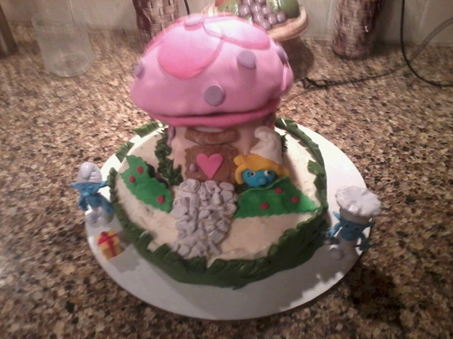 Smurfette's House on Cake Central