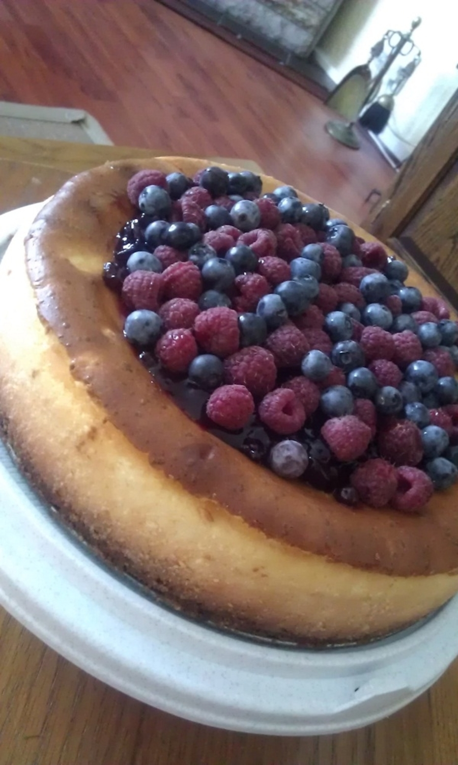 Birthday Baked Cheesecake With Fresh Berries on Cake Central