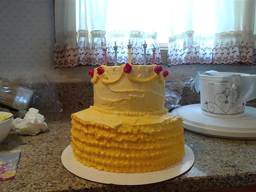 Belle Birthday Cake on Cake Central