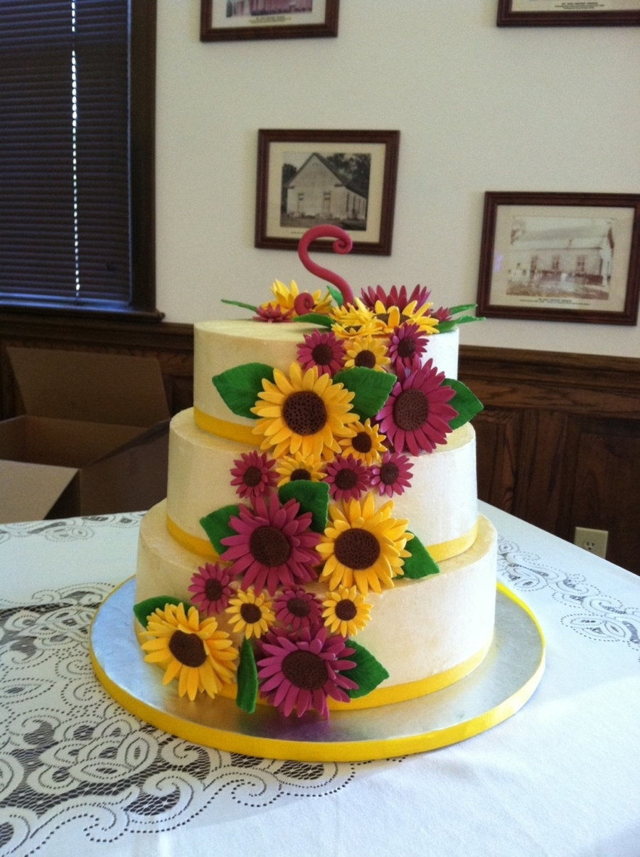 Sunflower Bridal Shower Cake on Cake Central
