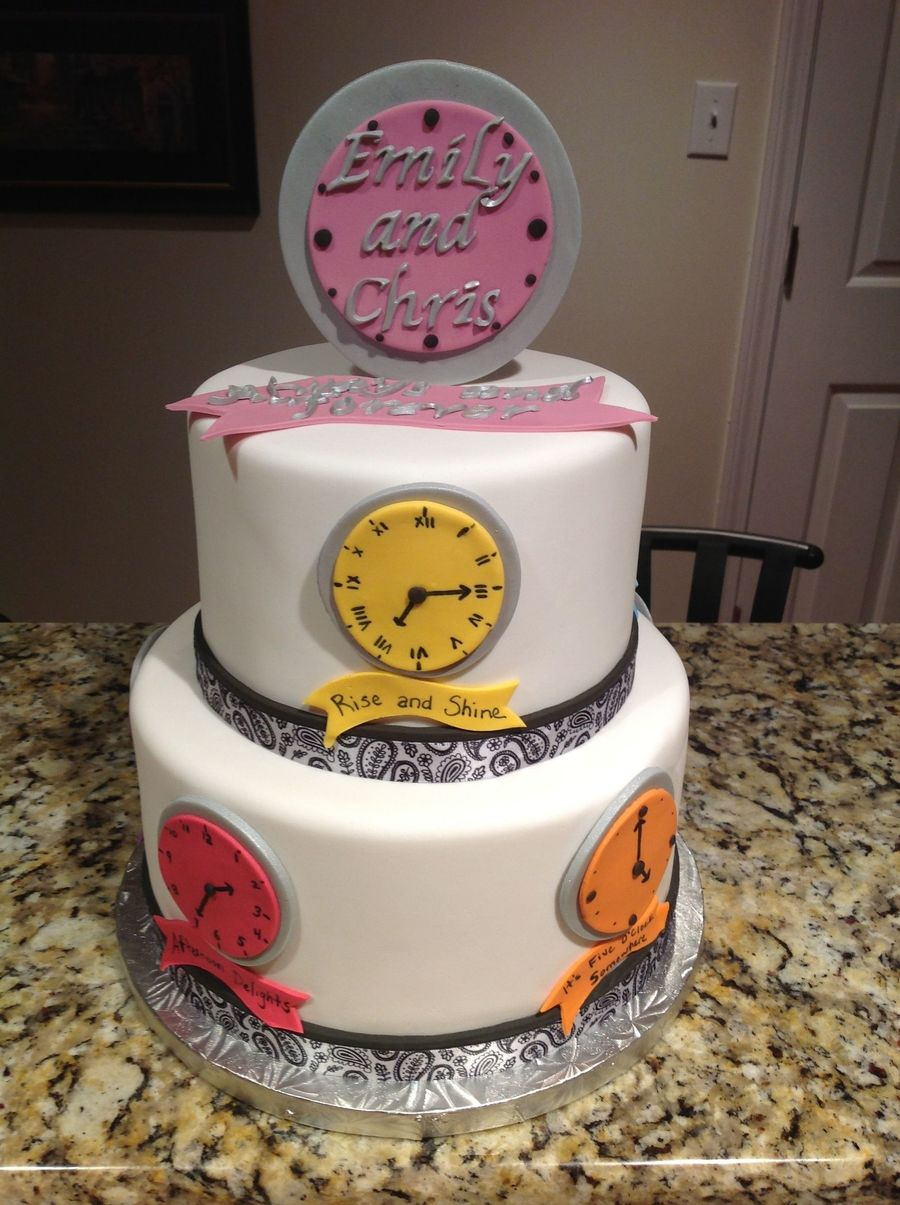 around the clock bridal shower cake on cake central