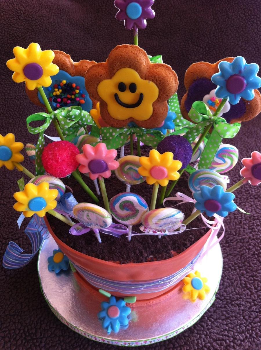 Fancy flower pot cake for Fancy flower pots