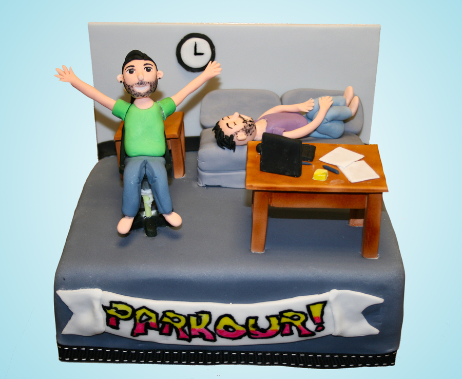 "The Office ""parkour"" on Cake Central"