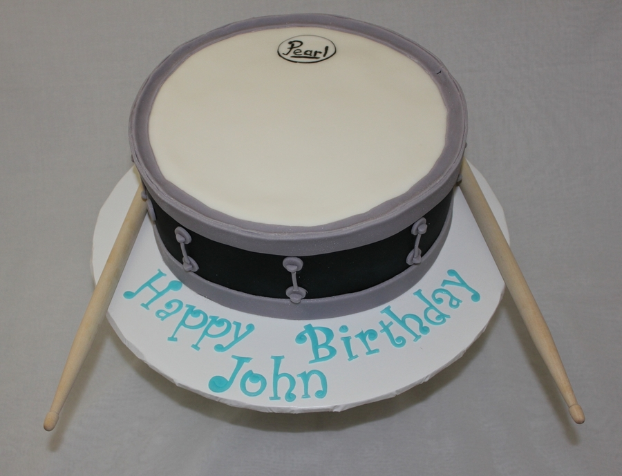 Snare Drum Birthday Cake on Cake Central