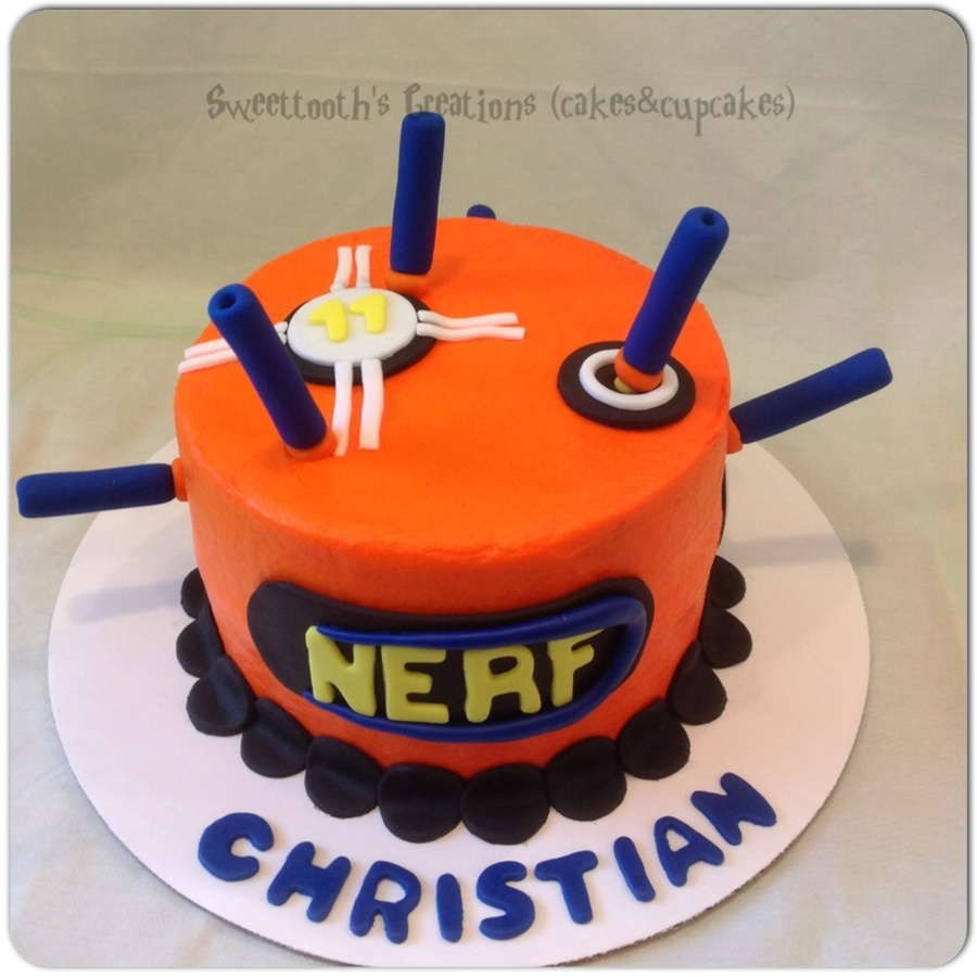 Nerf Gun Birthday Cake New 74 Best Kids Cake Ideas Images On Pinterest Of  20 New