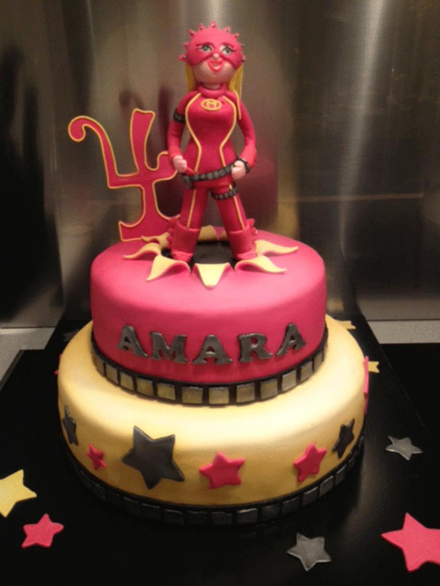 Mega Mindy Birthday Cake For Amara Cakecentral Com