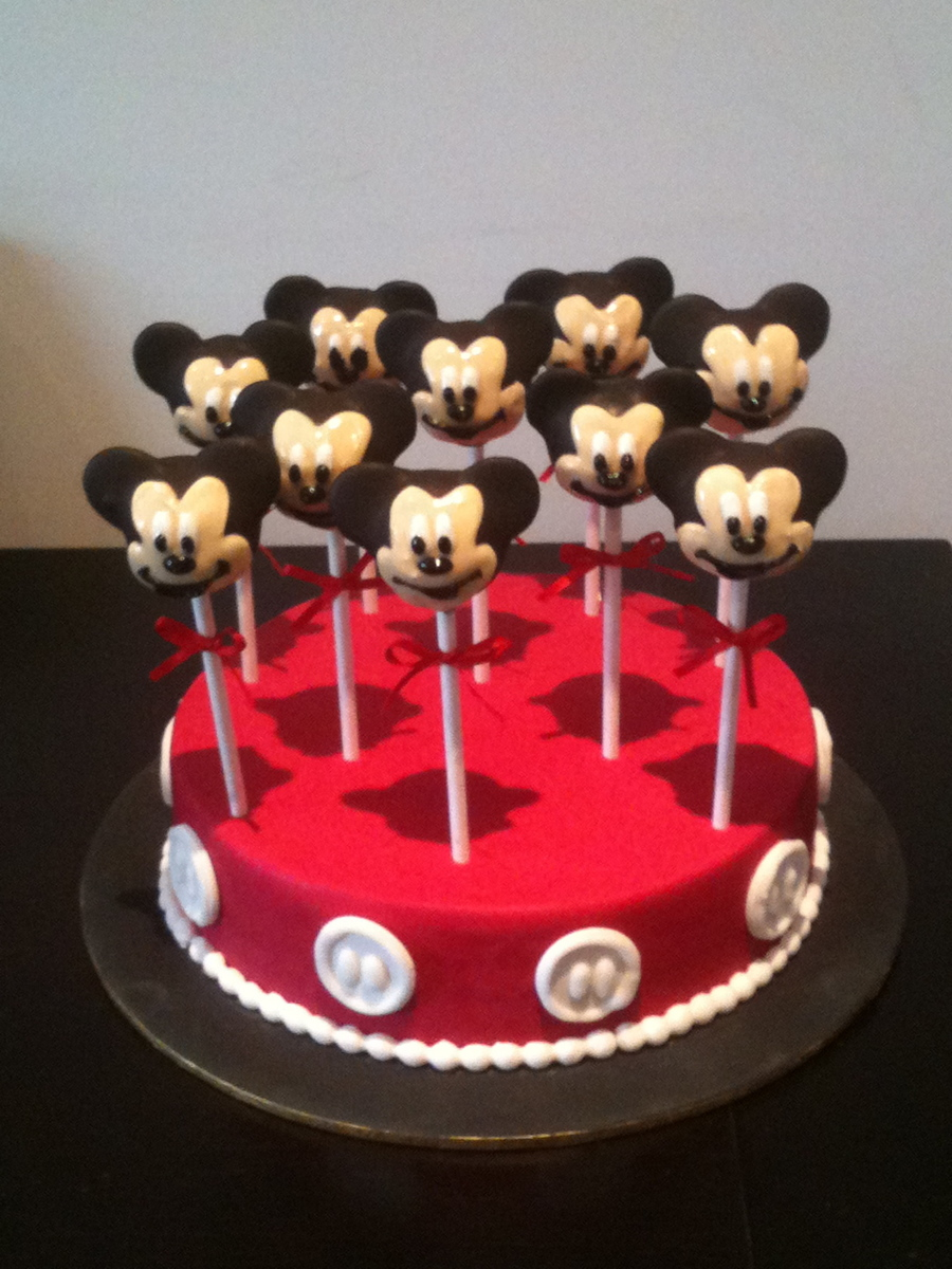 Mickey Mouse Cake Pops And Cake Cakecentral Com