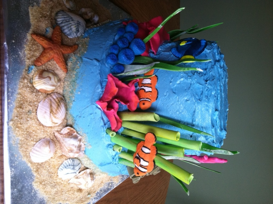 Ocean Birthday Cake on Cake Central