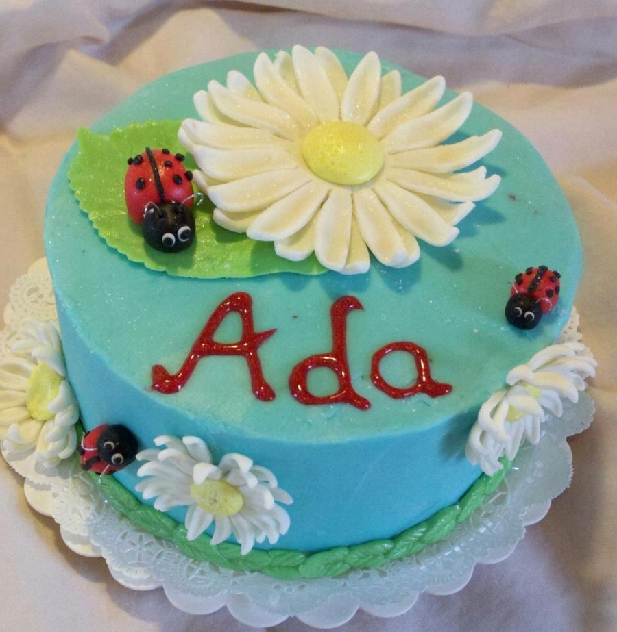 Lady Bugs And Daisies on Cake Central