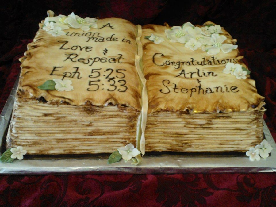 Antique Bible Cake on Cake Central