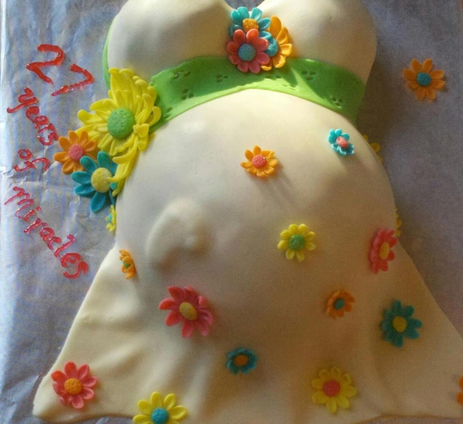 Baby Bump Cake on Cake Central