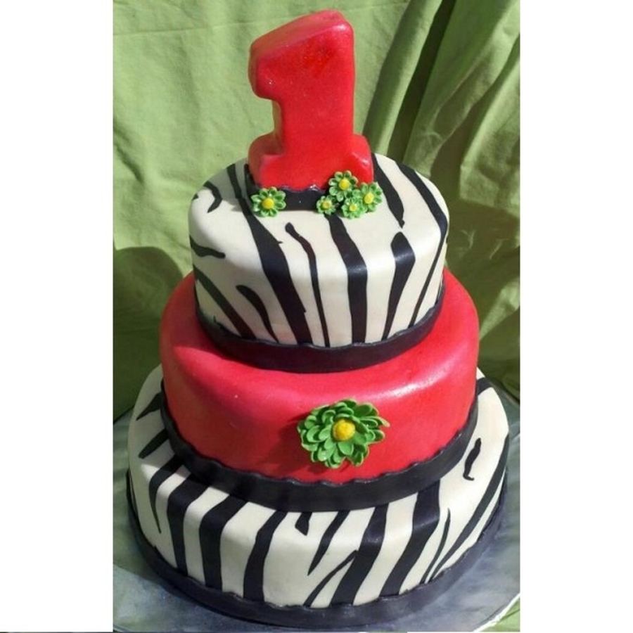 Zebra And Pink! on Cake Central