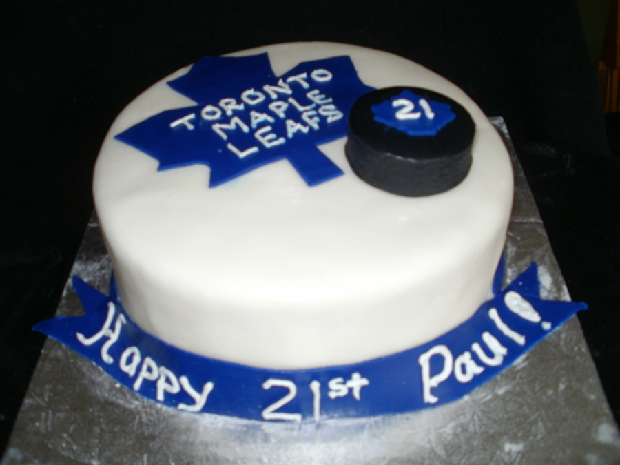 Maple Leafs Birthday Cake on Cake Central