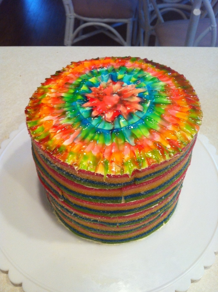 Tie Dye Candy Cake Cakecentral Com