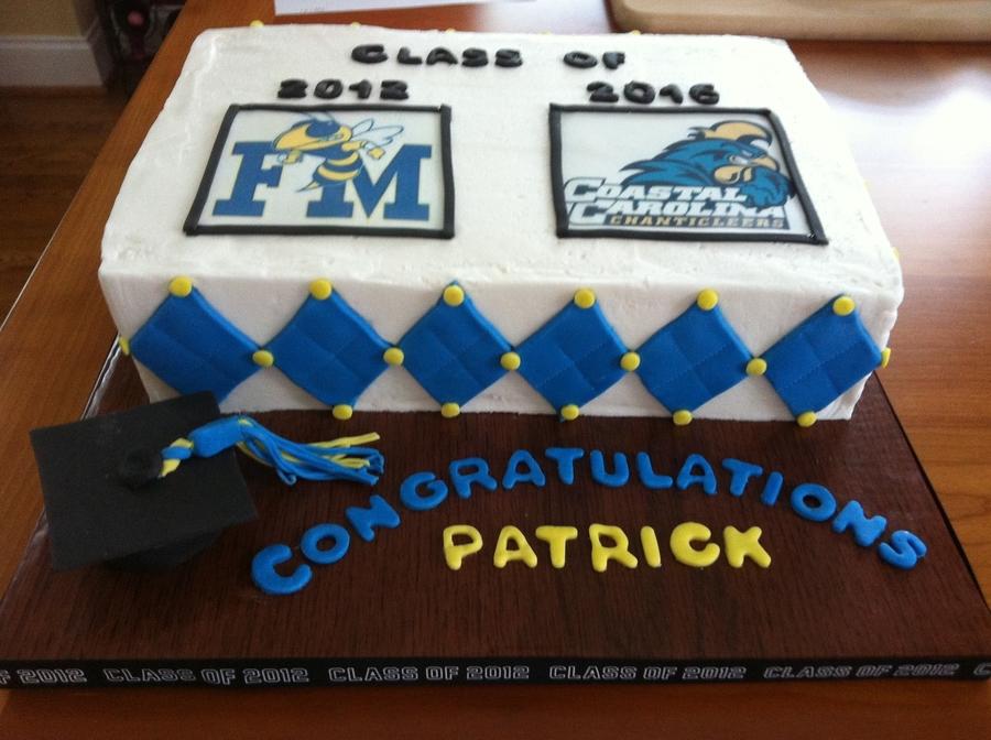 Guy Graduation Cake High School To College Cakecentralcom