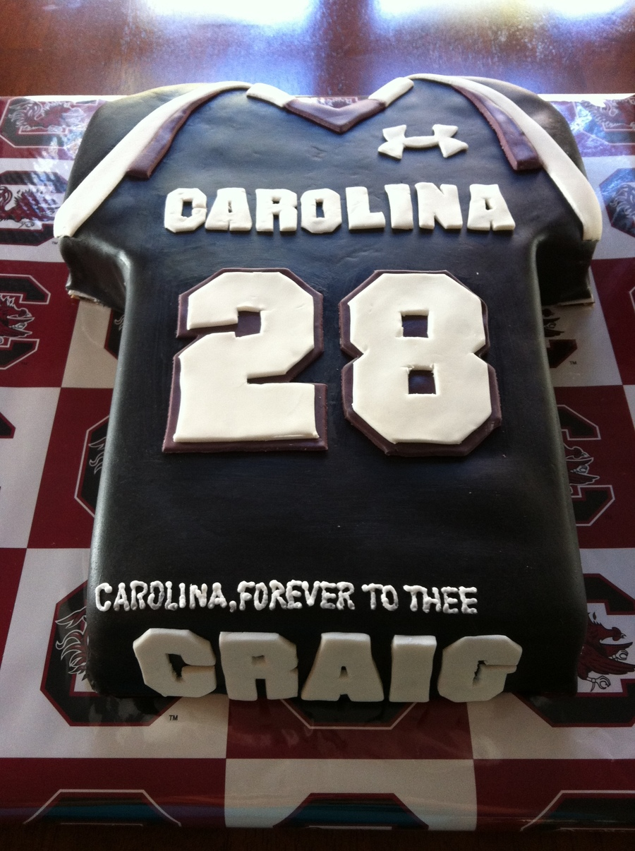 South Carolina Game**** Jersey Birthday Tailgating Cake on Cake Central
