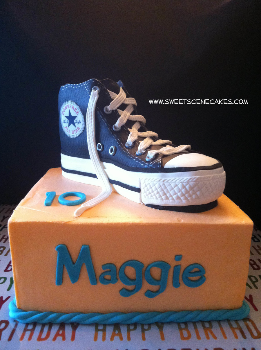 Converse High Top Shoe Cake Cakecentral Com