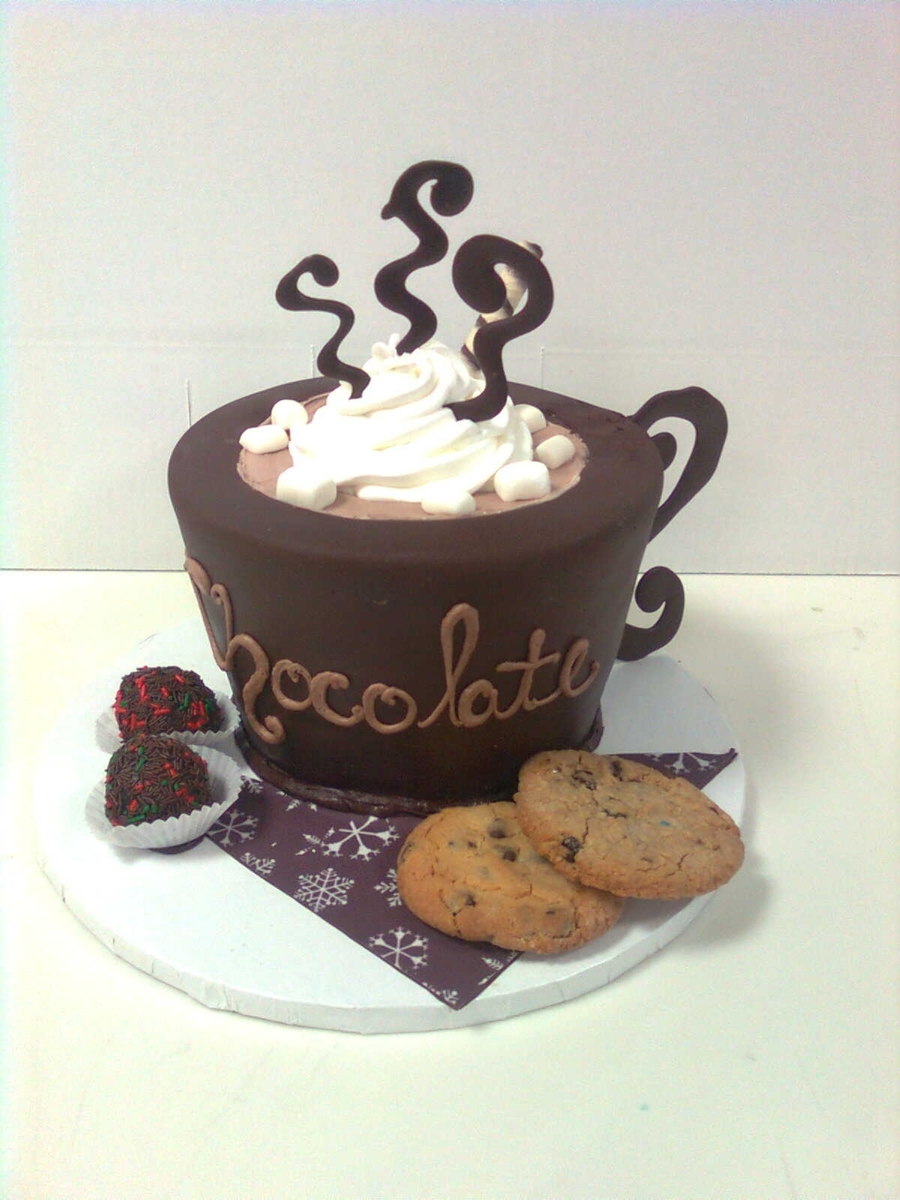 Hot Chocolate Cup on Cake Central