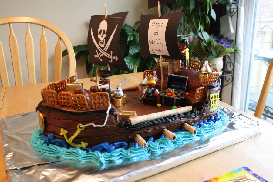 Strange Pirate Ship Birthday Cake Cakecentral Com Birthday Cards Printable Riciscafe Filternl