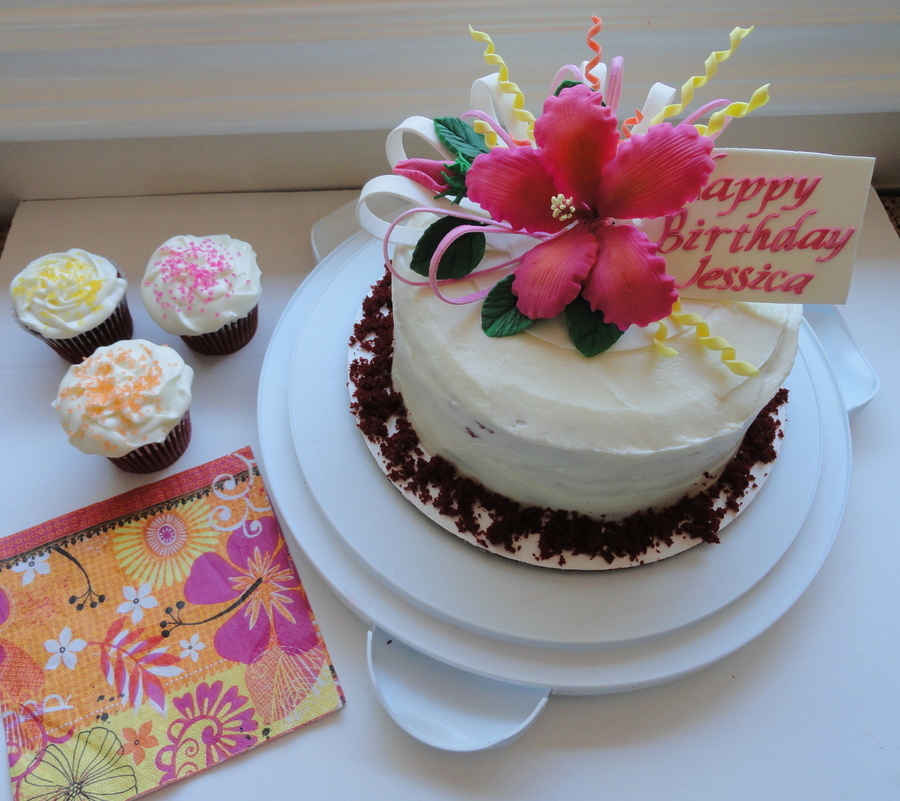 Hibiscus Flower Cake Topper Cakecentralcom