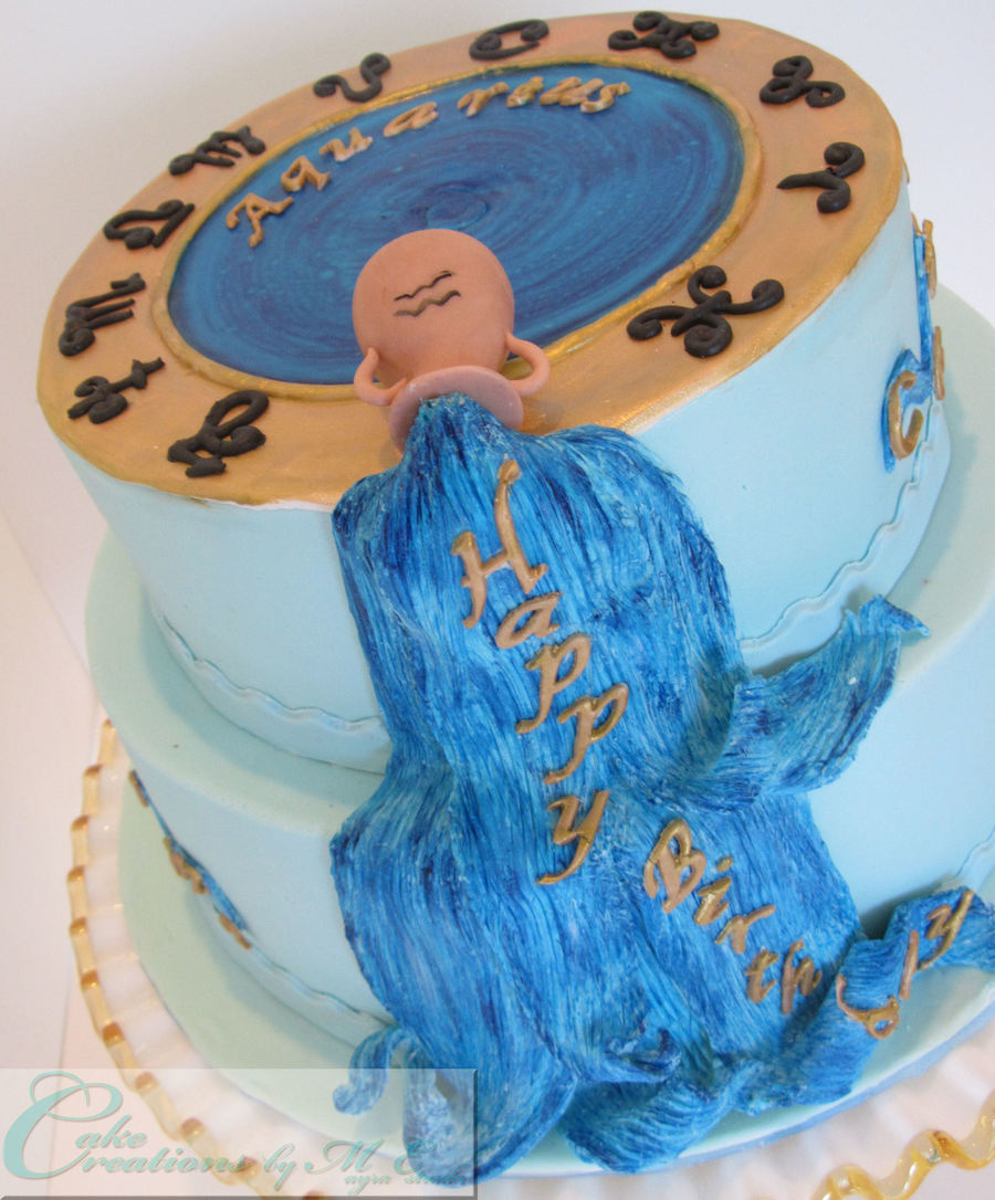Aquarius Birthday Cake - CakeCentral com