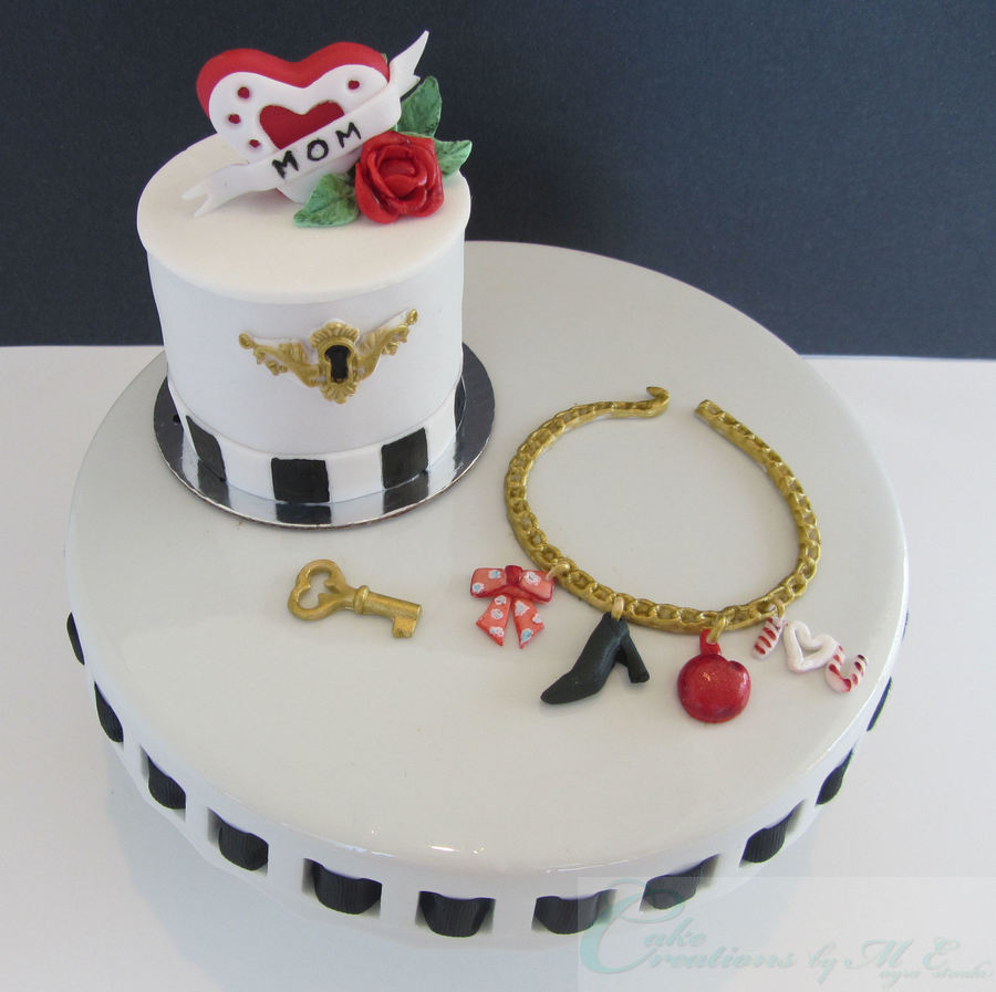 Mothers Day Jewelry Box Mini Cake Charm Bracelet CakeCentralcom