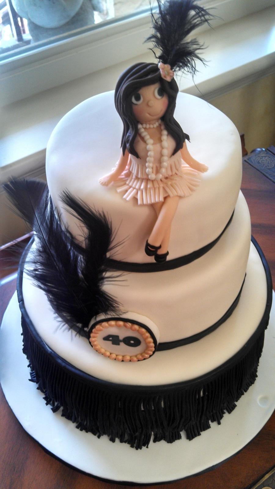 Roaring 20s Birthday Cake Cakecentral