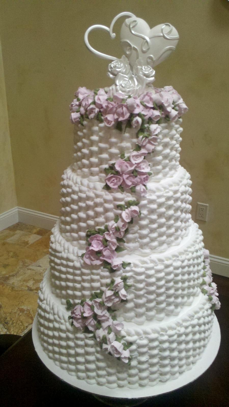 Basket Weave Rose Cake Cakecentral Com
