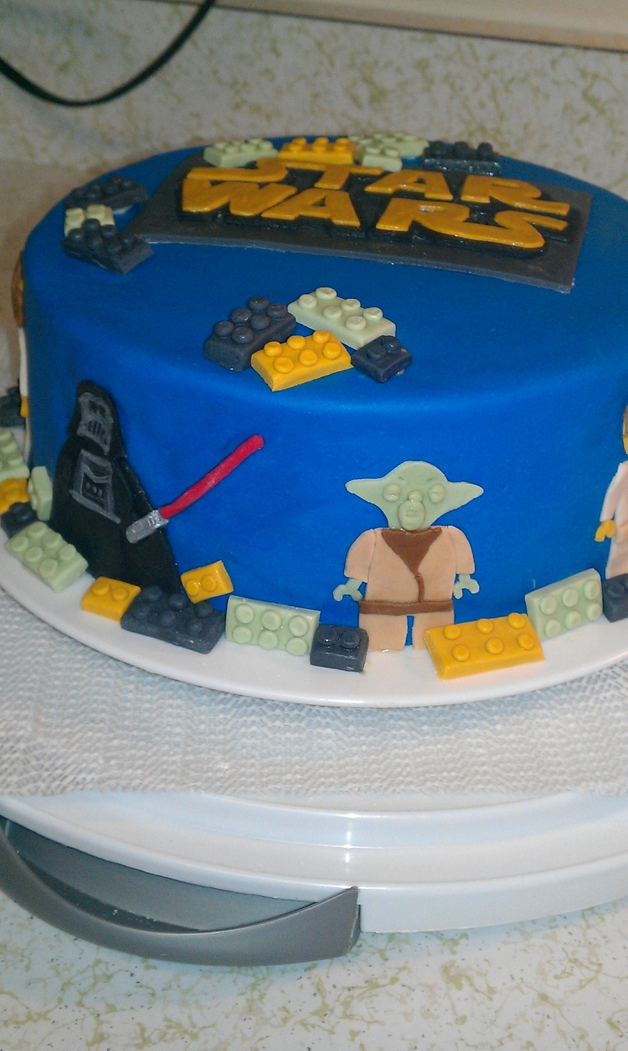 Lego Star Wars Fondant Cake