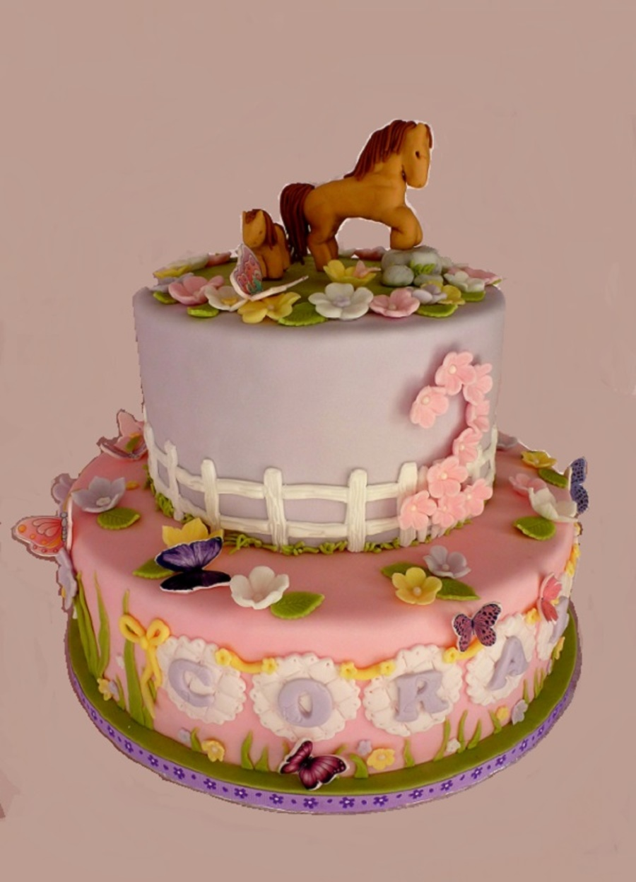 Horses And Butterflies on Cake Central