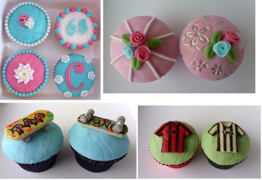 Cupcakes - Flowers, Skateboards, Football Dresses on Cake Central