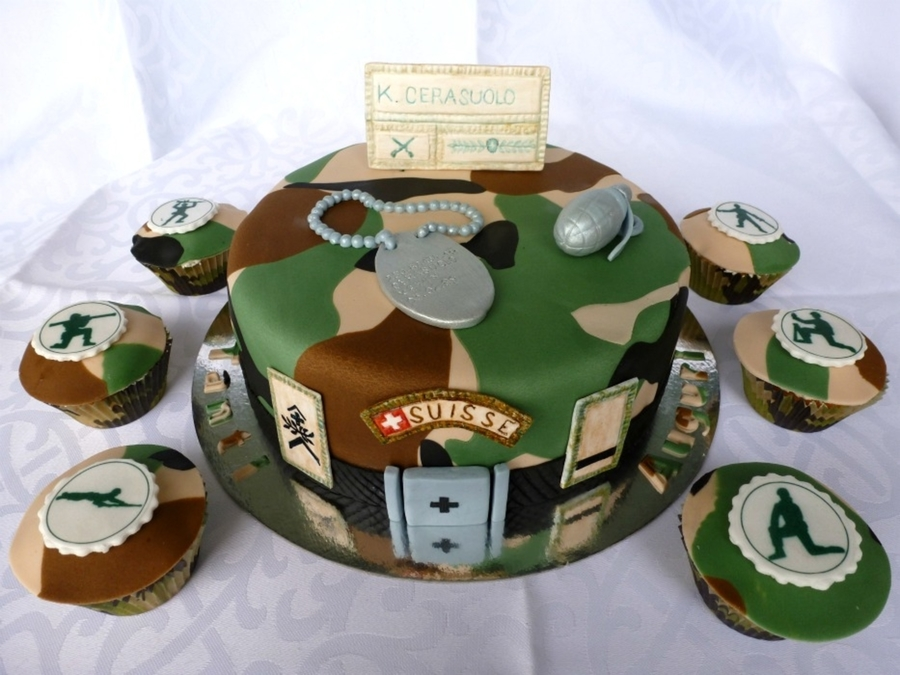 Military camo cake for Army cake decoration
