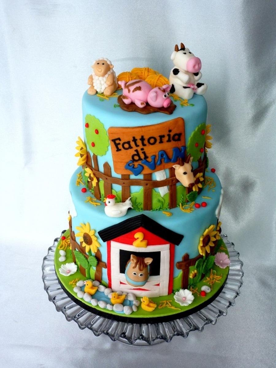 Cake Decoration Farm Theme : Animal Farm Cake - CakeCentral.com