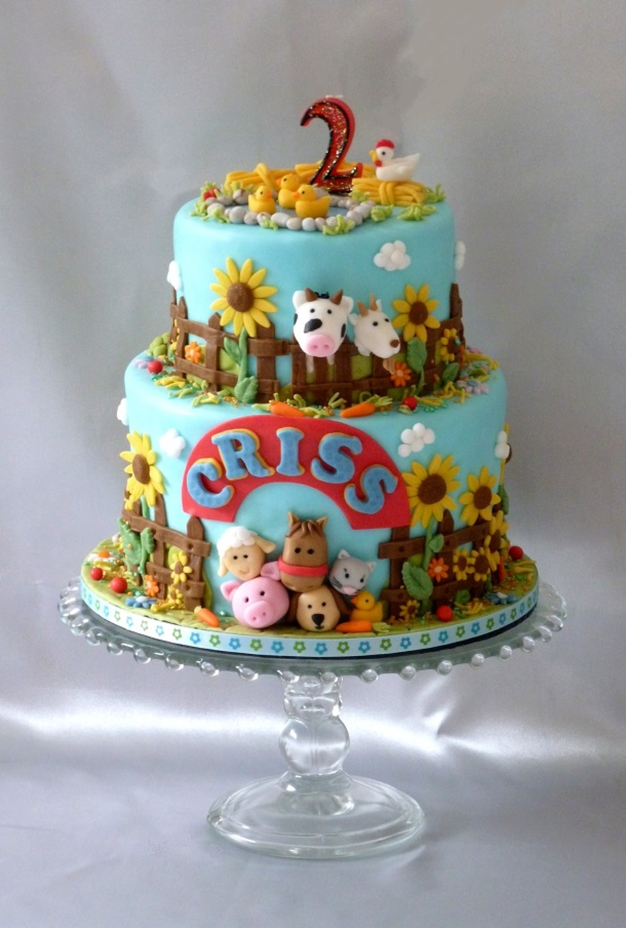 Animal Farm Birthday Cake Cakecentral Com