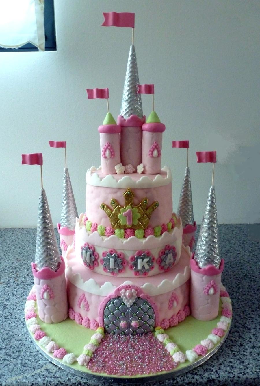 Yellow And Pink Birthday Cake