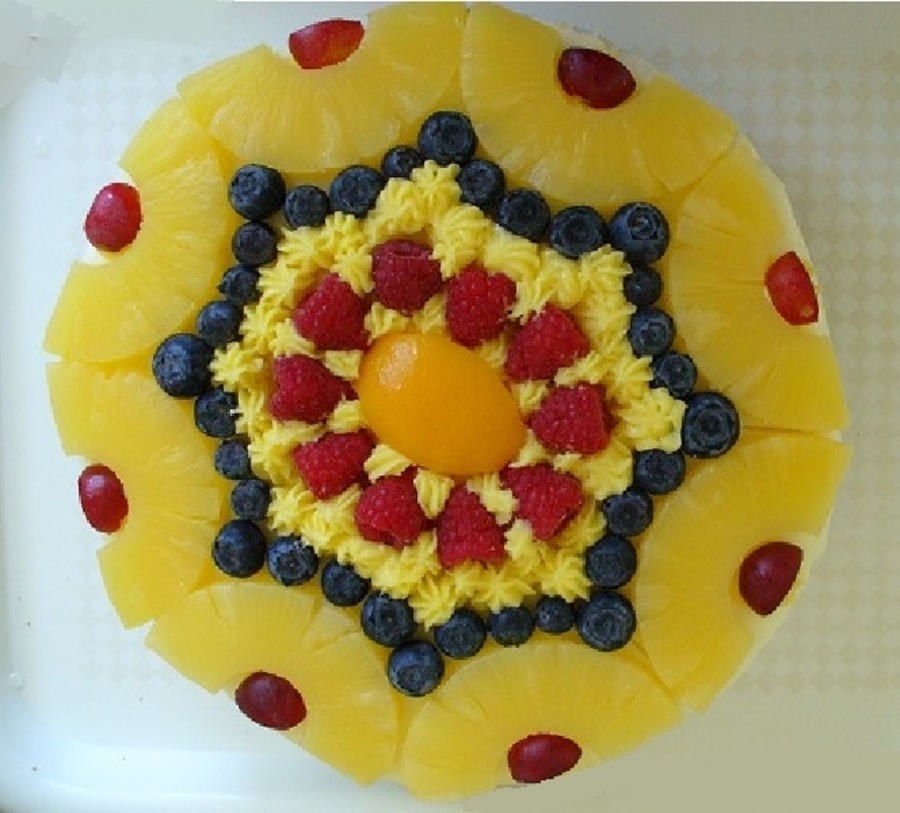 Fresh Fruit Cake on Cake Central
