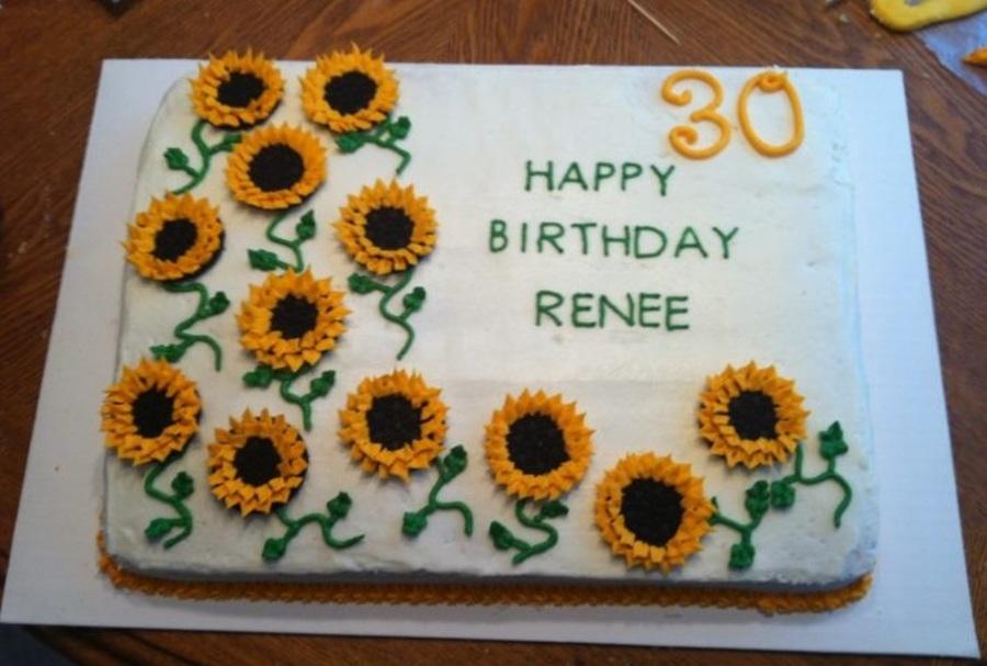Sunflower 30th Birthday Cake Cakecentral
