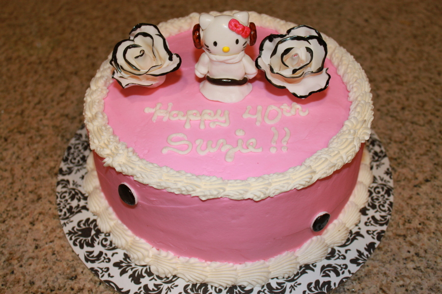 Birthday Cake For My Coworker Who Loves Pink Hello Kitty And Star Wars  on Cake Central